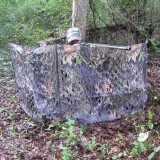 Primos Mossy Oak Break-Up Camouflage Stake Out Blind with Carrying Case and Shoulder Strap
