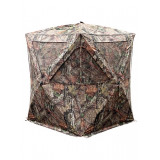 Primos Club Hub Style Blind with DuraMatte HD Fabric and Brush Deception Holders 65 in. Height - Mossy Oak Break-up Country