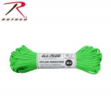 Rothco Nylon Paracord Type III  - 100' 550 lb Safety Green