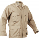 Rothco Rip-Stop BDU Shirt - 100% Cotton Khaki Medium