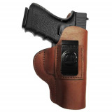 Regular Soft Style Holster FITS Ruger 380 with Laser. Brown / Right Hand