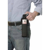 Sabre Frontiersman Bear Spray Attack Deterrent with Belt Holster - 35' Glow 9.2 oz