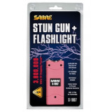 Sabre 3.8 Million Volt Stun Gun with LED Flashlight - Pink