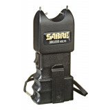 Sabre Stun Gun - 300,000 Volt On/Off Wrist & Belt Clip Black