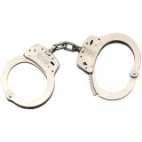 Smith & Wesson M100 Handcuffs - Hinged Nickel Standard
