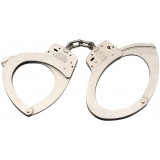 Smith & Wesson M110 Handcuffs - Nickel Large Size