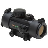 Truglo Traditional Dual Color Red Dot Sight - 31x30mm 5 MOA Red/Green - Black