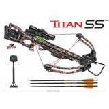 Tenpoint Titan SS Crossbow Package 3x ProView2 Scope ACUdraw50 - Mossy Oak Treestand