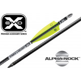 "Ten Point EVO-X CenterPunch Carbon Arrows 20"" with Aluminum ALPHA Nocks 6/pk"