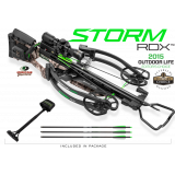 Horton Storm RDX Reverse Draw Premium Crossbow Package ACUdraw 3x Pro-View Scope - Mossy Oak Treestand