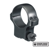 """Ruger Steel Scope Ring- Single 30mm High 1.062"""" Height- Blued"""