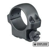 "Ruger Steel Scope Ring- Single 1"" Low .812"" Height - Hawkeye Matte Blued"