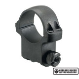 """Ruger Steel Scope Ring- Single 1"""" High 1.062"""" Height - Hawkeye Matte Blued"""