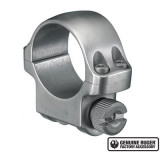 """Ruger Steel Scope Ring- Single 1"""" Low .812 Height - Stainless Steel"""