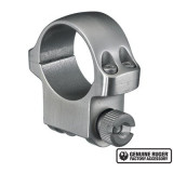 """Ruger Steel Scope Ring - Single (4K) 1"""" Medium .937"""" Height - Stainless Finish"""