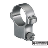 """Ruger Steel Scope Ring - Single (6K30) 30mm Extra High 1.187"""" Height - Stainless Finish"""