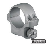 """Ruger Steel Scope Ring- Single 1"""" Low .812 Height - Hawkeye Matte Stainless"""