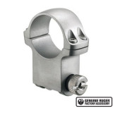 """Ruger Steel Scope Ring- Single 1"""" Extra High 1.187"""" Height - Hawkeye Matte Stainless Finish"""