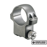 """Ruger Steel Scope Ring- Single 1"""" High 1.062"""" Height - Target Grey Stainless"""