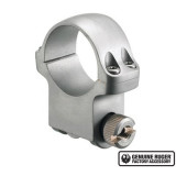 """Ruger Steel Scope Ring- Single 30mm High 1.062"""" Height- Target Gray"""