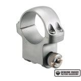 """Ruger Steel Scope Ring- Single 30mm High 1.062"""" Height- Hawkeye Matte Stainless"""