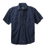 Woolrich Tactical Short Sleeve Shirt - Navy Medium