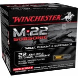 Winchester M-22 Subsonic Rimfire Ammunition .22 LR 45 gr CPRN 100/ct