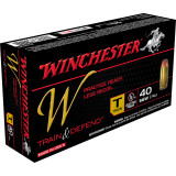 Winchester W Train & Defend Handgun Ammunition .40 S&W 180 gr FMJ 50/Box