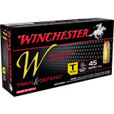 Winchester W Train & Defend Handgun Ammunition 45 ACP 230gr RL FMJ 50rd