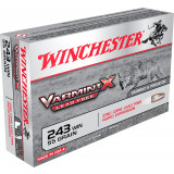 Winchester Lead Free Varmint X Rifle Ammunition .243 Win 50gr HP 3910 fps 20/ct