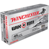 Winchester WIN1911 Handgun Ammunition .45 ACP 230 gr JHP 50/Box