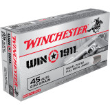 Winchester WIN1911 Handgun Ammunition .45 ACP 230 gr FMJ 50/Box