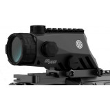 Sig Sauer BRAVO4 Wide Battle Sight with Integrated M1913 Top Rail - 4x30mm  5.56/7.62 Illum. Horseshoe Dot Reticle Graphite