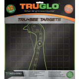 TRUGLO TRU-SEE Self Adhesive Targets - Turkey 12x12 Green 12 Pack