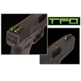 Truglo TFO Tritium/Fiber-Optic Day/Night Sights Fits Novak 1911 .270/.450 Front Green/Rear Yellow