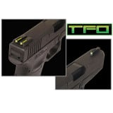 Truglo TFO Tritium/Fiber-Optic Day/Night Sights Fits Novak 1911 .260/.500 - Front Green/Rear Yellow