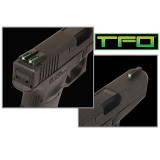 Truglo TFO Tritium/Fiber-Optic Day/Night Sights Fit Ruger LC9 / 9s / 380 - Front Green/Rear Green