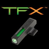 Truglo TFX Tritium/Fiber-Optic Day/Night Sights Beretta PX4 Storm Excluding Compact (Front Sight Only) - White Outline Front/Rear Green