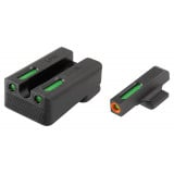 Truglo TFX Pro Tritium/Fiber-Optic Day/Night Sights Fit Kimber 1911 models w/ FIXED REAR SIGHT - Orange Outline Front/Rear Green