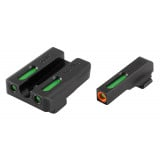 Truglo TFX Pro Tritium/Fiber-Optic Day/Night Sights Fit Sig Sauer #8 front / #8 rear - Orange Outline Front/Rear Green