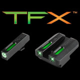 Truglo TFX Tritium/Fiber-Optic Day/Night Sights Walther P99 and PPQ - White Outline Front/Rear Green