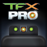 Truglo TFX Pro Tritium/Fiber-Optic Day/Night Sights - Walther PPS (Except M2) - Orange Outline Front/Green Rear