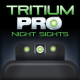 Truglo Tritium Pro Night Sights Fit Glock M.O.S. 17 19 22 23 24 26 27 33 34 35 38 39 - Front Outline White/Rear Green