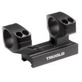 "Truglo 1-Piece Reversible Picatinny/Weaver Tactical Scope Mount with 1"" Rings 1""H / 2-7/8L Base - Black"