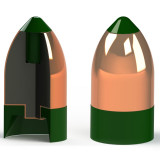 Powerbelt AeroTip Copper-Plated Muzzleloader Bullets .50 cal 405 gr AERO CHP 15/ct