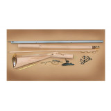 "Traditions Black Powder Kentucky Rifle Build-It-Yourself Kit Select Raw Hardwood .50 Cal 33.5"" White Barrel"