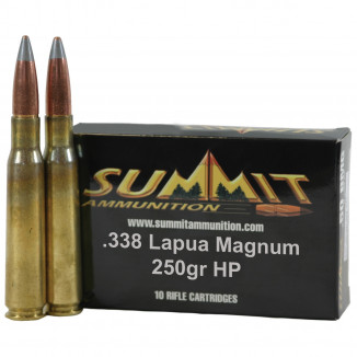 Summit Match .338 Lapua Mag 250 gr HP Rifle Ammunition - 20/box