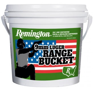 "Remington UMC ""Range Bucket"" Ammunition 9mm Luger 115 gr MC 350/ct"