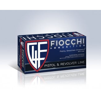 Fiocchi 9mm Luger 115 gr FMJ  50/ct Pistol Shooting Dynamics Handgun Ammunition