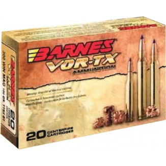 Barnes VOR-TX Rifle Ammunition .308 Win 150 gr TTSXBT 2820 fps - 20/box